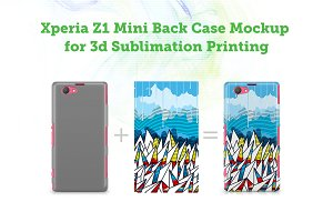 Sony Xperia Z1 Mini 3d Case Mockup