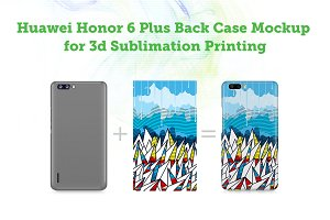 Huawei Honor 6 Plus 3d Case Mock-up