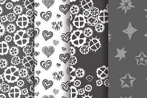 Abstract pattern vector set.