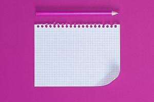 empty rectangular white sheet