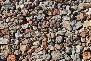 Cobblestones wall texture