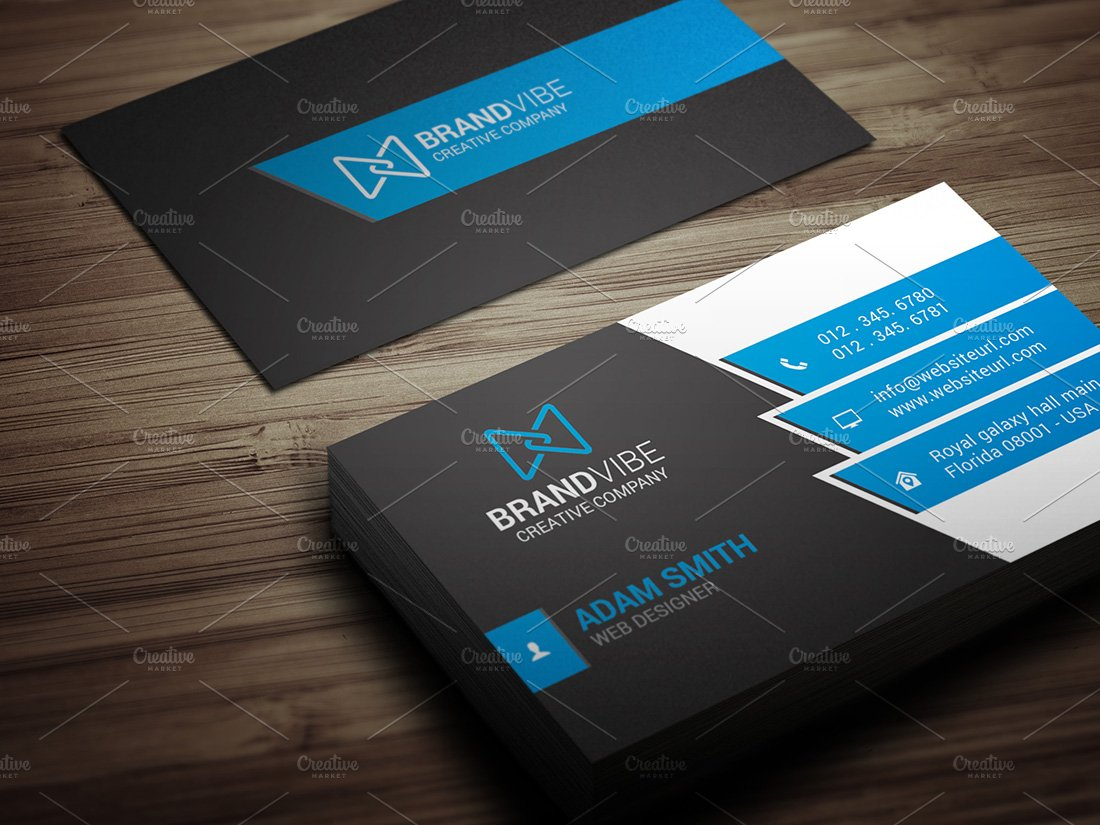 Modern Business Card Template - Business Card Templates | Creative ...