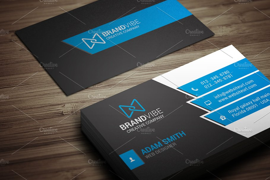 Modern business card template business card templates creative previous flashek Gallery