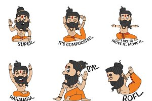 Illustration Of Baba Ramdev