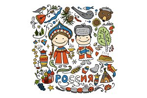 Travel to Russia. Sketch for your