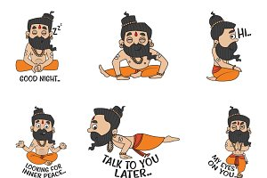 Cartoon Illustration Of Baba Ramdev