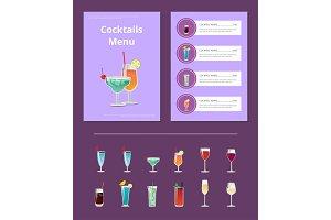 Cocktail Menu Advertisement Poster