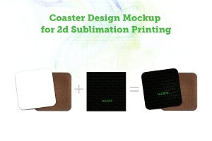 Coaster Design Sublimation Mockup