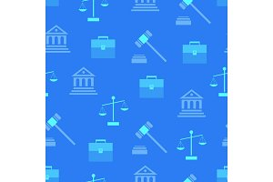 Seamless Pattern with Law Symbols on