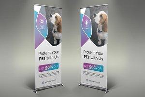 Pet Shop Roll-Up Banner