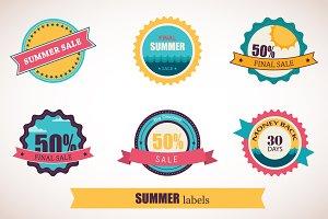 summer sale & summer time labels
