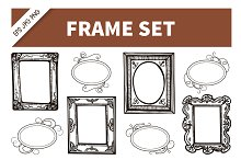 Frame Hand Drawn Vintage Set