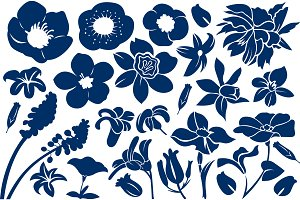 Floral Silhouette Pattern
