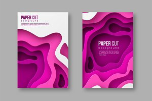 3d paper cut style posters.
