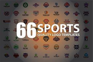 66 SPORTS Logo Templates BUNDLE