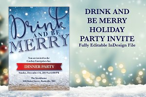 Be Merry Holiday Party Invite