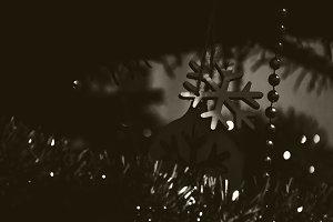 Christmas Tree Snowflake. Vintage