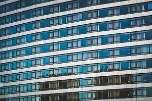 Windows of an urban building