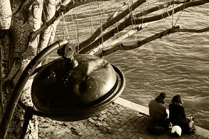 Paris. High water romance. Sepia.