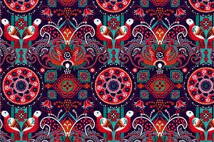 2 Flowers Seamless Patterns