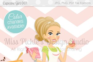 Cupcake Girl 001- Character Graphic