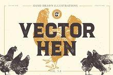 VECTOR HEN HAND DRAWN BUNDLE 5.0