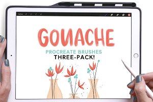 Gouache Procreate Brushes 3-Pack