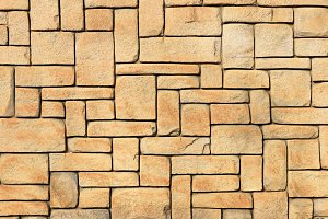 Masonry stone cladding wall texture.
