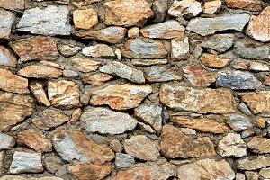 Rocky masonry cobblestones cladding