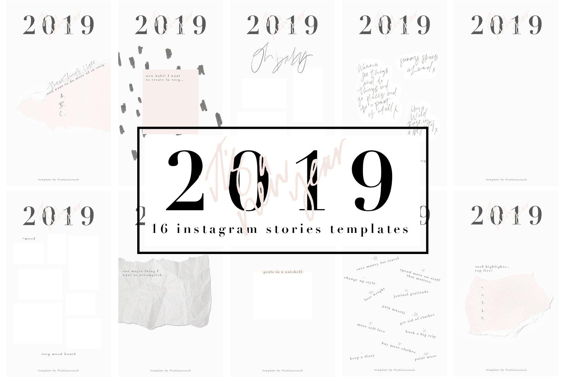 2019 Instagram Stories Templates ~ Instagram Templates