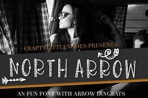 North Arrow - Arrow Font & Dingbat