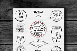 Golf vector set badges and logos