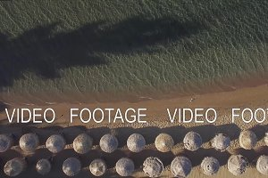 Aerial vacation scene of sea and