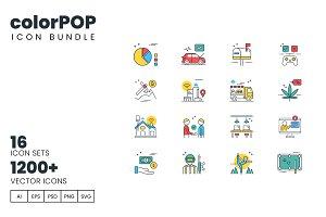 1200+ Icons - colorPOP Vector Bundle