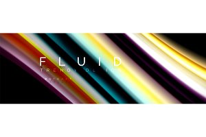 Abstract liquid colorful banner