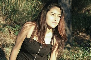 Young beautiful latin woman