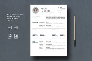Creative CV Template 4 Pages
