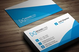 Modern Clean Blue Business Card