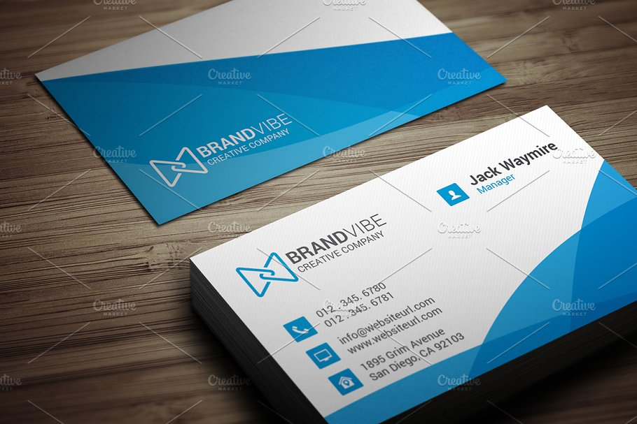 Modern clean blue business card business card templates creative previous cheaphphosting Gallery