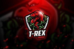 T- Rex - Mascot & Esport Logo