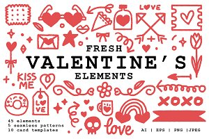 Fresh Valentine's Elements