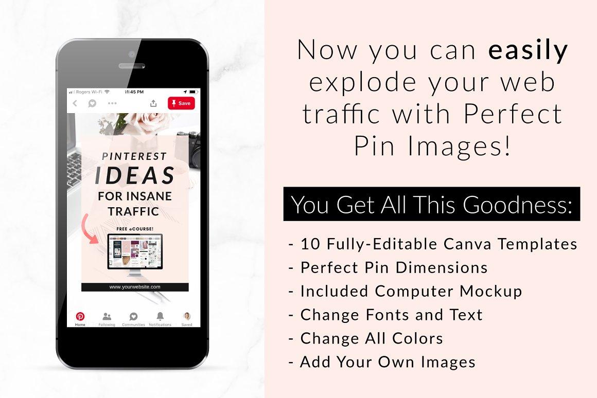 Canva Pinterest Templates Blush