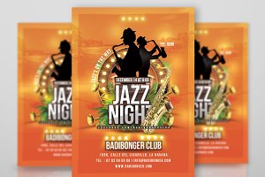 Tropical Jazz Night Flyer