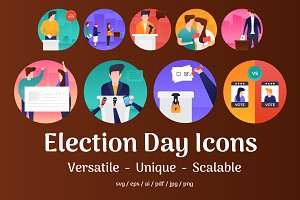 45 Election Day Vector Icons