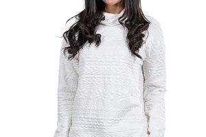 Portrait Asian woman wearing the swe