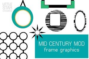 Mid Century Mod Frame Graphics