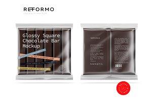 Transparent Chocolate Bar Mockup