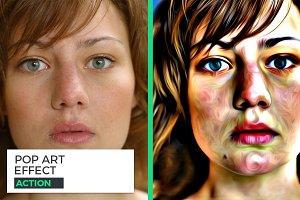 Pop Art Photo Effect Action