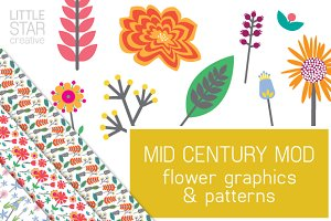 Mid Century Mod Flowers