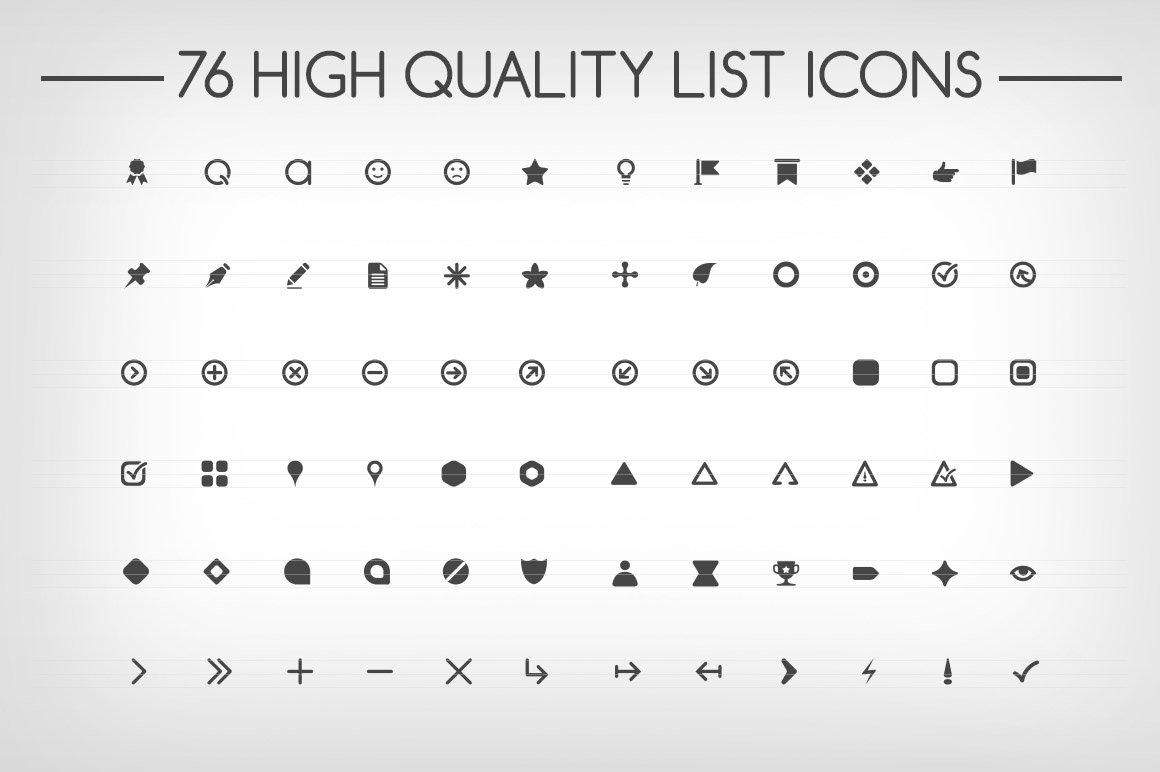 Bullet Points Symbol Fonts Creative Market - Best of download bullet points design